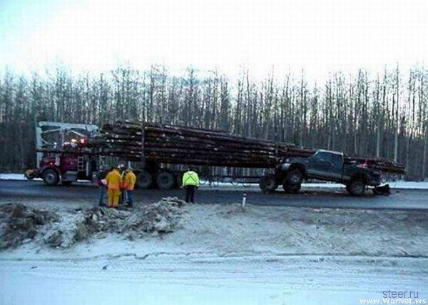 Влетел на дрова (фото)