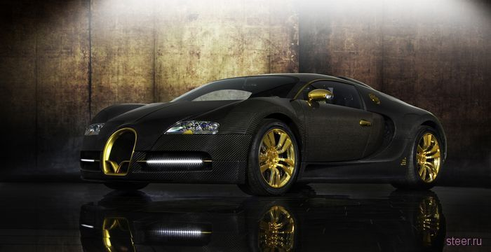 Bugatti Veyron Linea Vincero d'Oro: Mansory показали позолоченный Bugatti Veyron (фото)