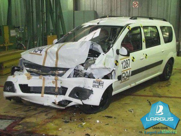 Первый краш-тест Lada Largus: видео