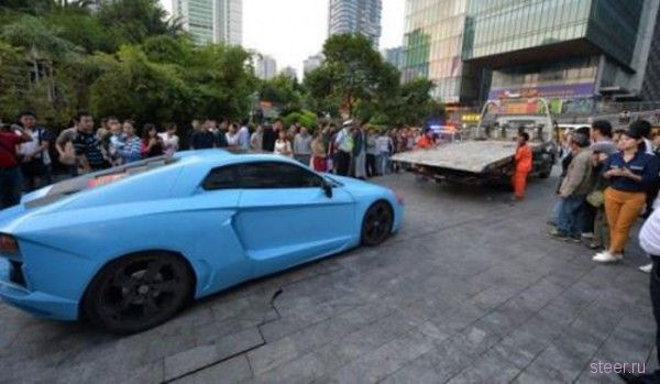 Подделка Lamborghini Aventador была изъята китайскими полицейскими