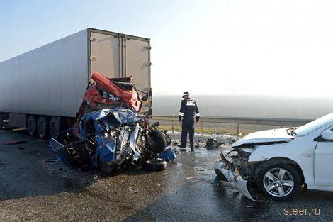 В Краснодарском крае из-за тумана столкнулись 50 автомобилей