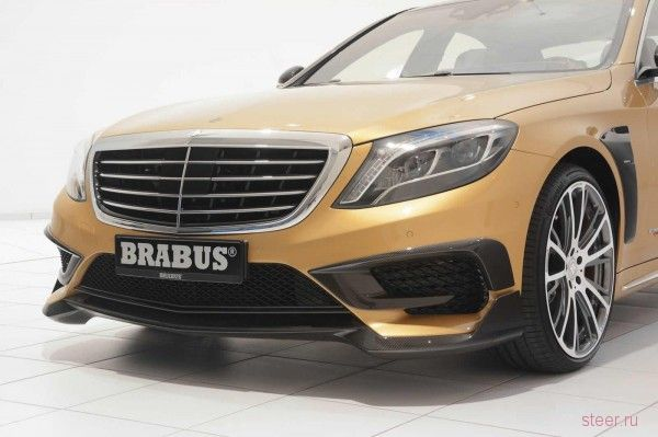 Brabus представил золотой Mercedes-Benz S63 AMG