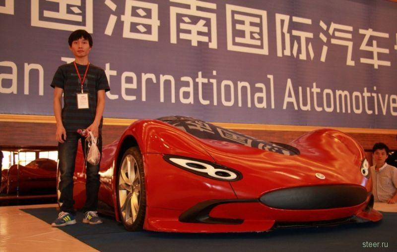 Китаец построил футуристический суперкар за 4800 долларов