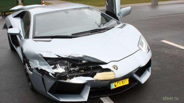 В Германии разбили Lamborghini Aventador