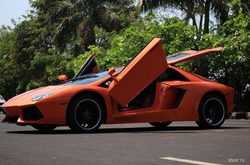 В Индии сделали из Honda Accord реплику Lamborghini Aventador.