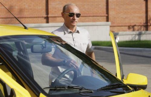 Владимир Путин на Lada Kalina. (фото и видео)