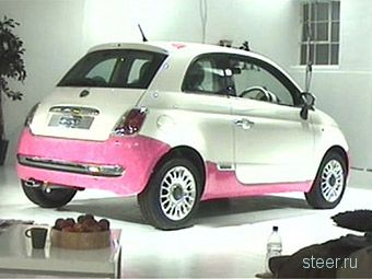 Англичанин за четыре дня перекрасил Fiat 500 лаком для ногтей (фото)