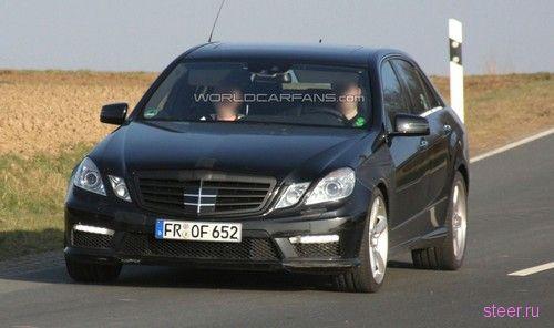 Mercedes E63 AMG без камуфляжа (фото)