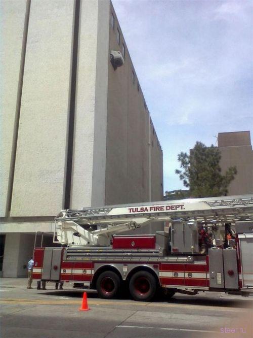 Выезд с 6 этажа парковки (фото)