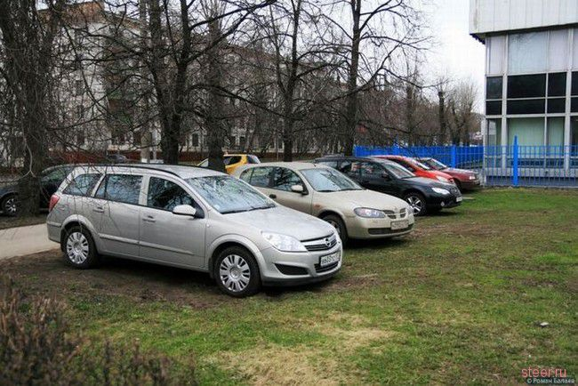 Парковка по-московски (фото)