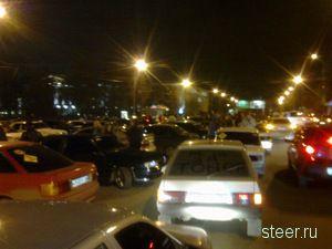 Ночная акция протеста автомобилистов прошла в Екатеринбурге (фото)