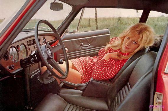 Женщины и автомобили: винтажная красота (фото)