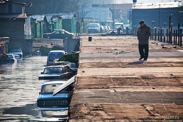 Гаражный потоп в Москве (фото)