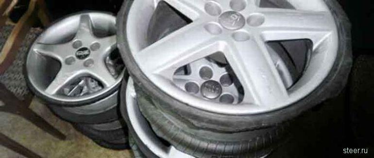 Похищенные автомобильные диски (фото)