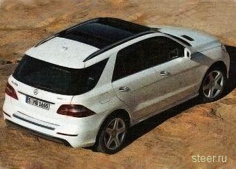 Первые изображения нового Mercedes-Benz M-Class :автомобиль получил полностью новый кузов (фото)