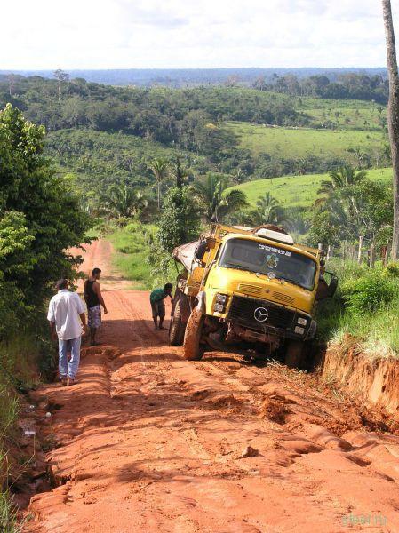 Трансамазонская магистраль в Бразилии. Плохо не только у нас (фото)