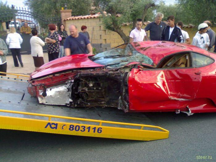 Арендованный для свадьбы Ferrari F430 разбили вдребезги (фото и видео)
