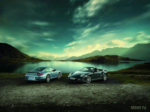 Первые изображения Porsche 911 Turbo S 2011 года (фото)