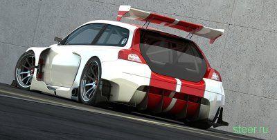 Эскизы прототипа спортивного Volvo C30 DTM Racecar (фото)