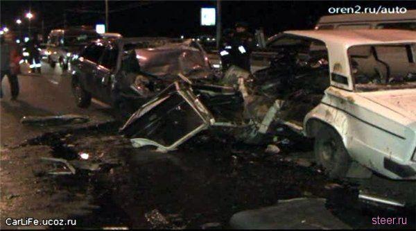 Страшная авария в Оренбурге (фото)