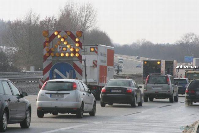В Германии из-за ям закрыли автобан (фото)