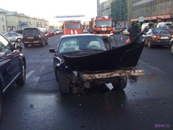 ДТП на Садовом кольце (фото и видео)