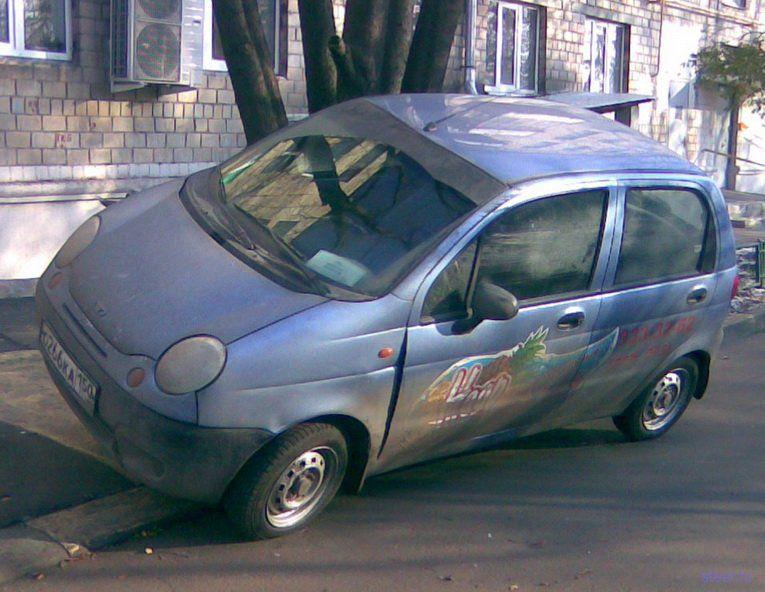 Экстремальная парковка на Матизе (фото)
