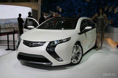 Гибридный электромобиль Opel Ampera (Chevrolet Volt) (фото)