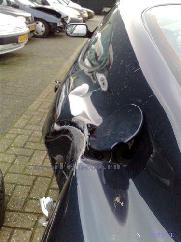 Aston Martin DB7 потерял колесо