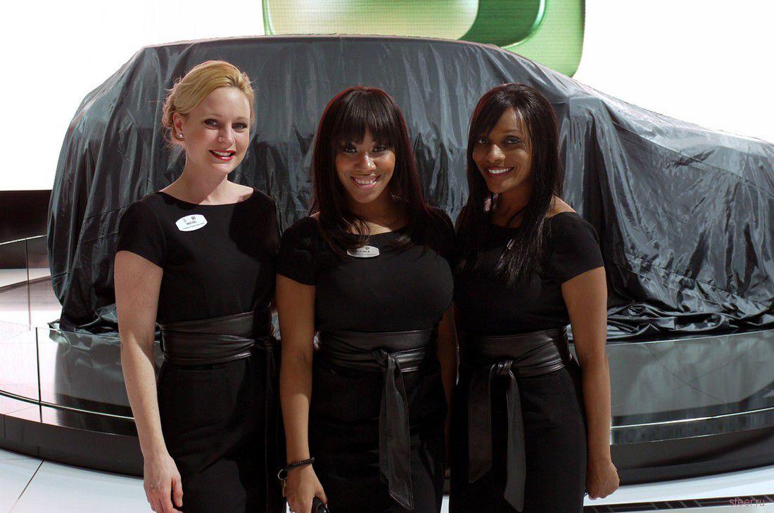 Девушки автосалона в Детройте (фото)