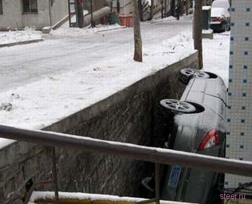 Боковой вариант парковки (фото)