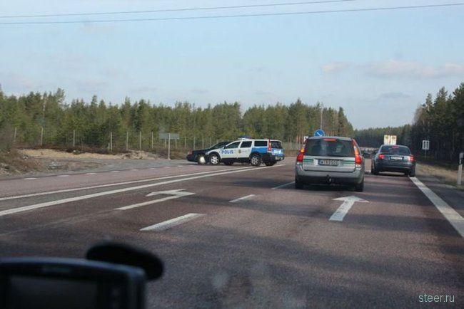 Жесткое Задержание автоугонщиков в Швеции (фото)