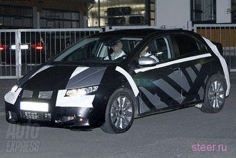 Тестовый образец хэтчбека Honda Civic нового поколения замечен на дорогах Европы. (фото)