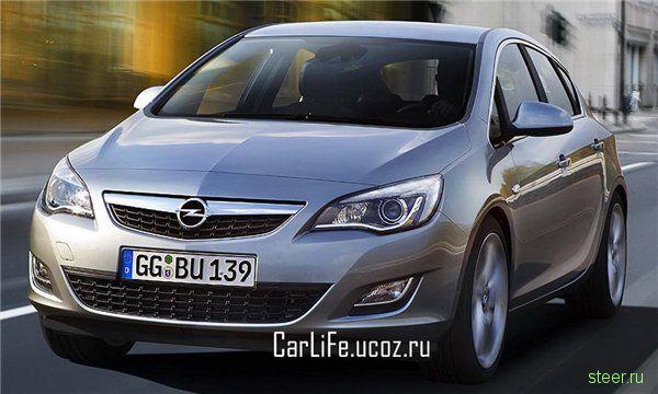 В сети появились официальные слайды с изображением Opel Astra нового поколения.