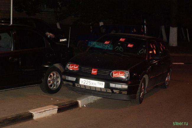 Некорректная парковка: новые методы борьбы (фото)