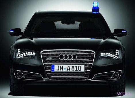 Представлен бронированный седан Audi A8 (фото)
