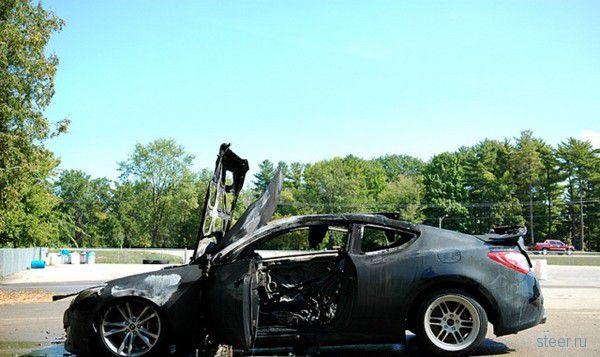 Перегрев: Genesis Coupe спалили при дрифте (фото)