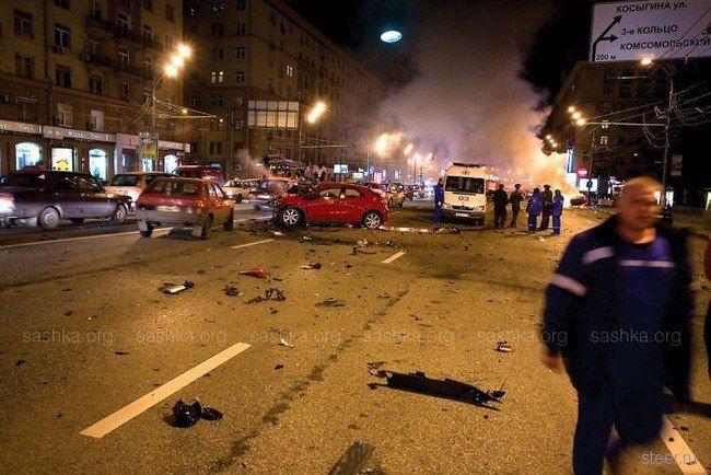 В Москве  разбили Lamborghini Murcielago (фото)