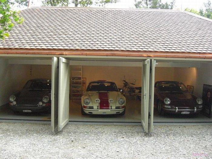 Достойный гараж фаната Porsche (фото)