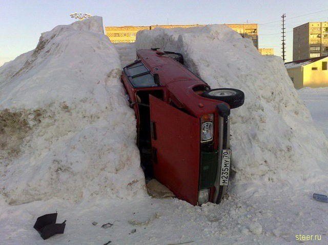 Парковка на горке (фото)