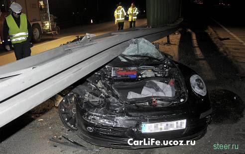 Прототип нового Porsche 911 Cabrio попал в страшное ДТП в Германии  (фото)