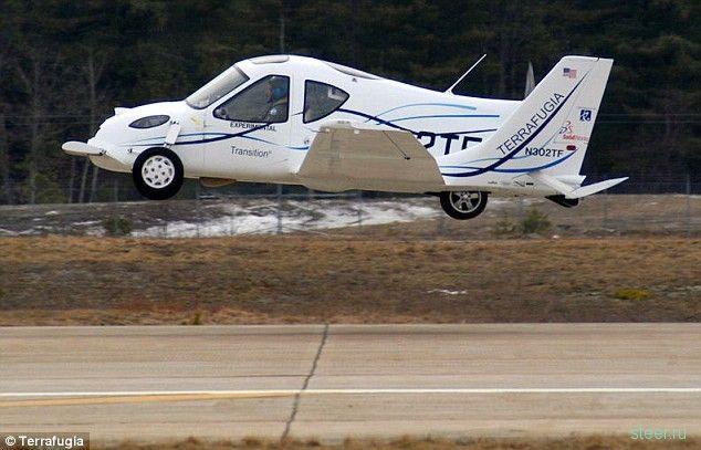 Terrafugia Transition: Первый полет летающей машины (фото и видео)