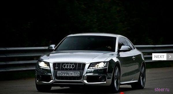 Хромированная Audi S5 (фото и видео)