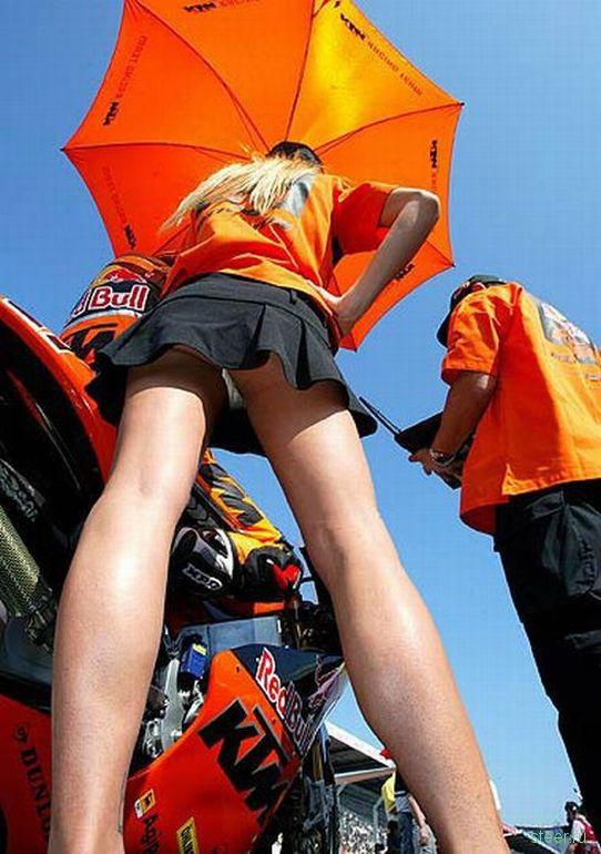 Девушки на автосоревнованиях: Обратная сторона (фото)