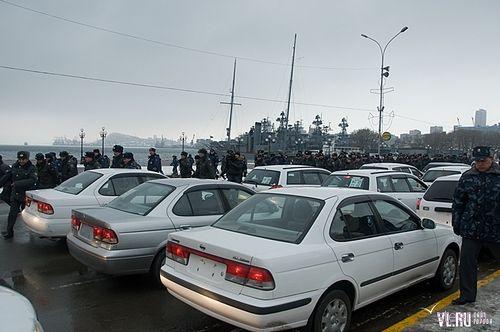 Двадцать автомобилей японского производства пополнили в четверг автопарк УВД Владивостока