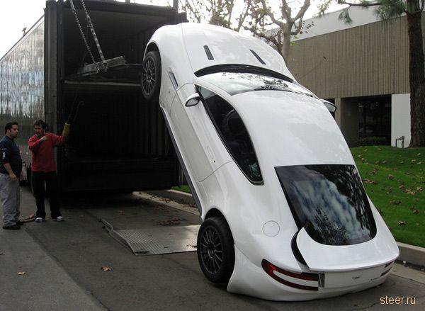 Aston Martin повредили при транспортировке