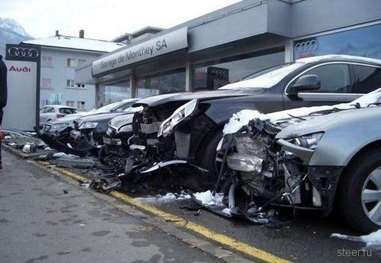 атака на автосалон