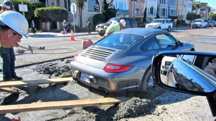 Вызволение Porsche 911 (фото)