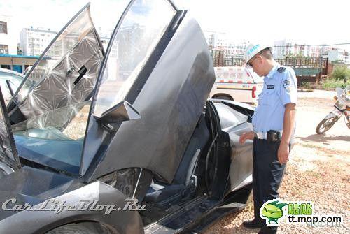 Китайский клон Lamborghini конфискован полицией (фото)