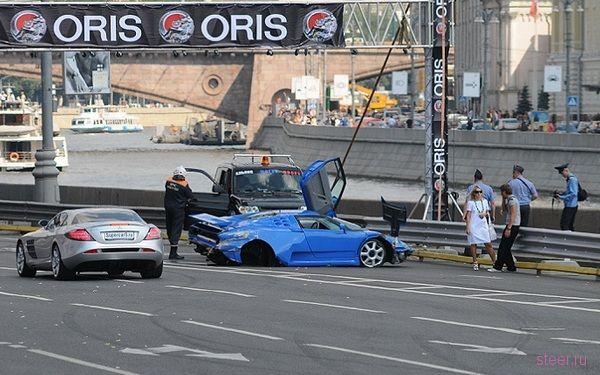 Как разбили Bugatti EB 110 Super Sport в центре Москвы (фото)